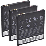 HTC Battery for HTC 35H0016400M (3-Pack) Replacement Battery